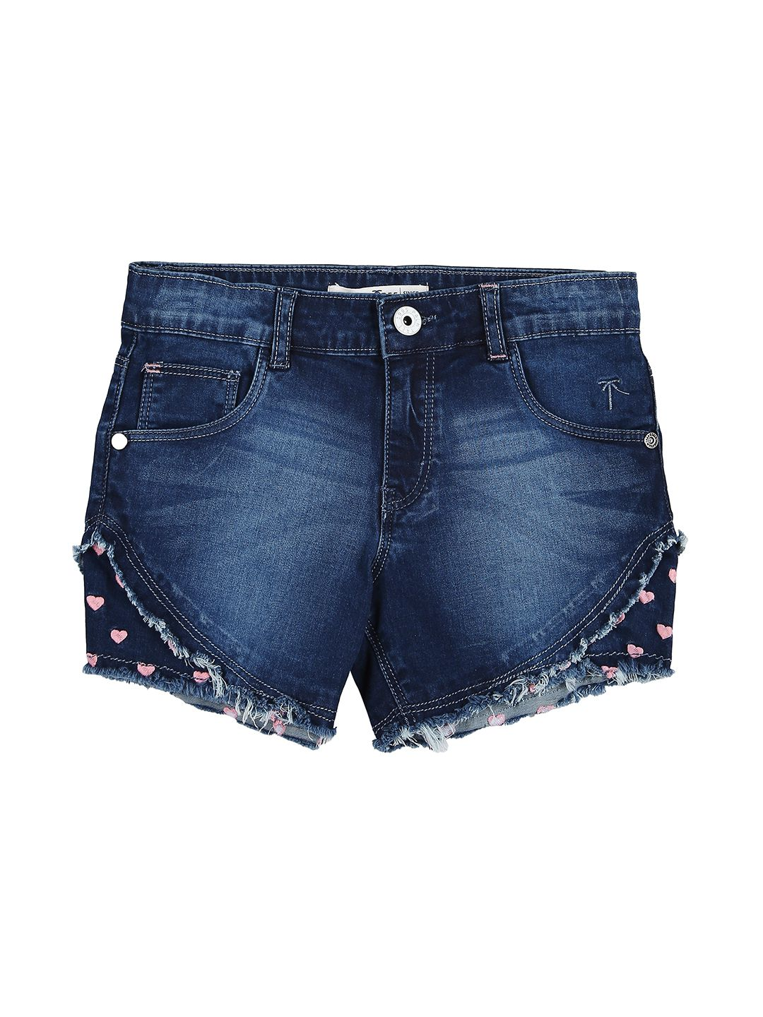 Palm Tree Dark Blue  Shorts