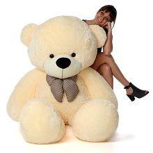 AVS 5 Feet Stuffed Spongy Hugable Cute Teddy Bear - 152 cm (Cream Color)