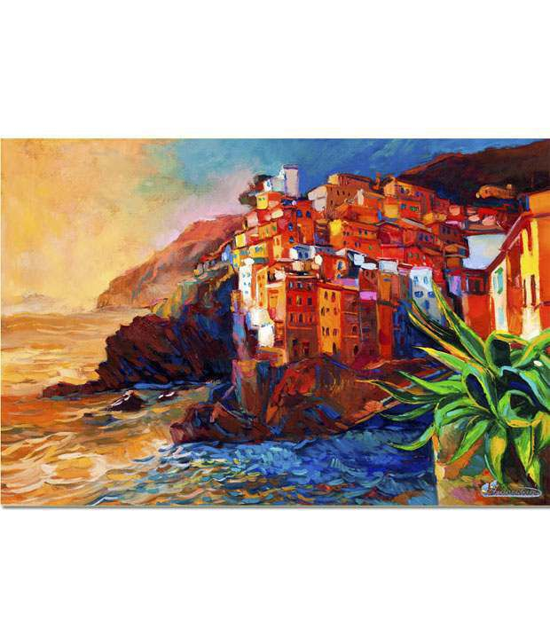 Anwesha's Gallery Wrapped Digitally Printed 30x20 Inch - 117 Canvas Painting With Frame