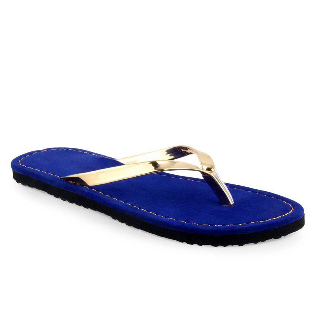 Radhika Blue Slippers