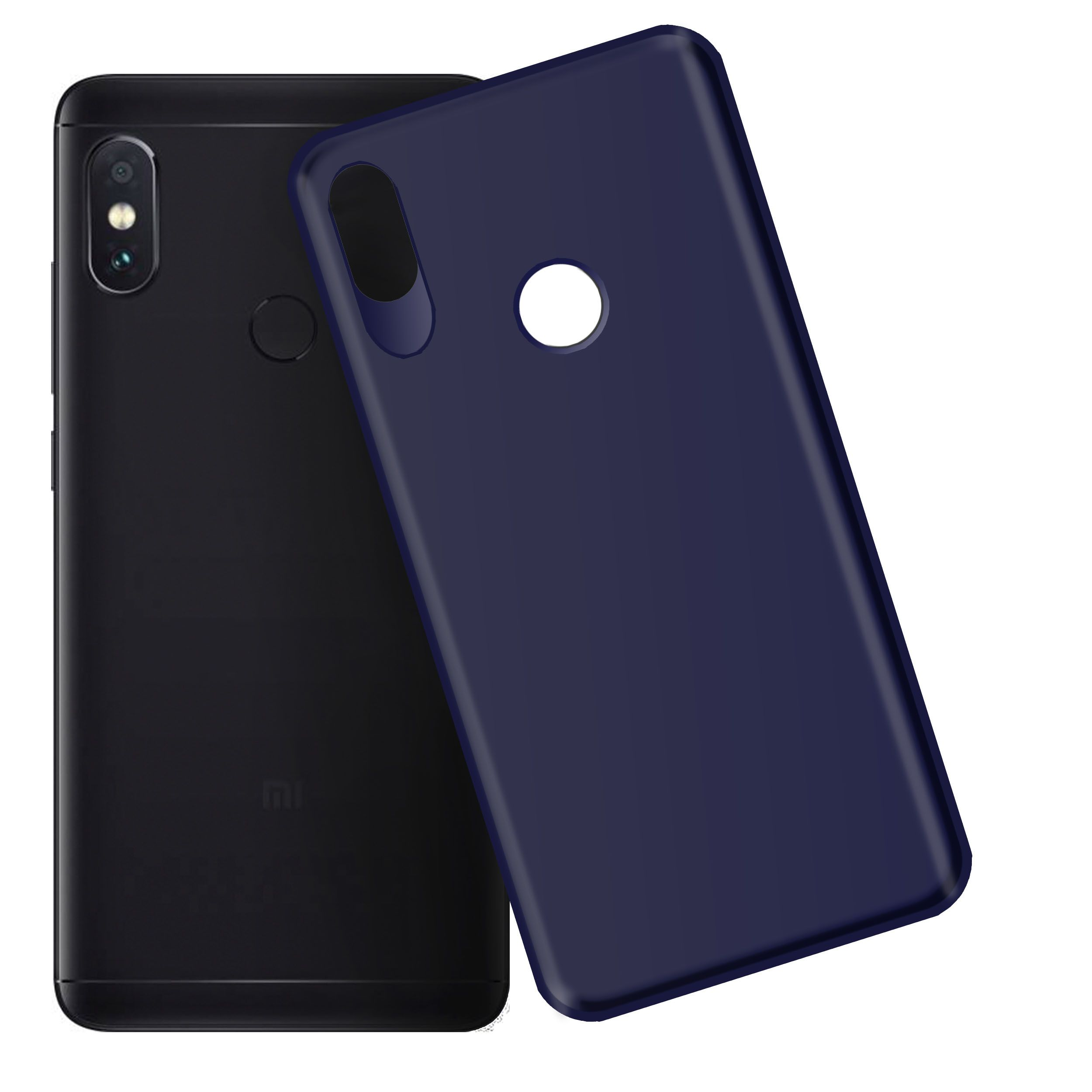 Xiaomi Redmi Note 5 Pro Plain Cases Hupshy Blue