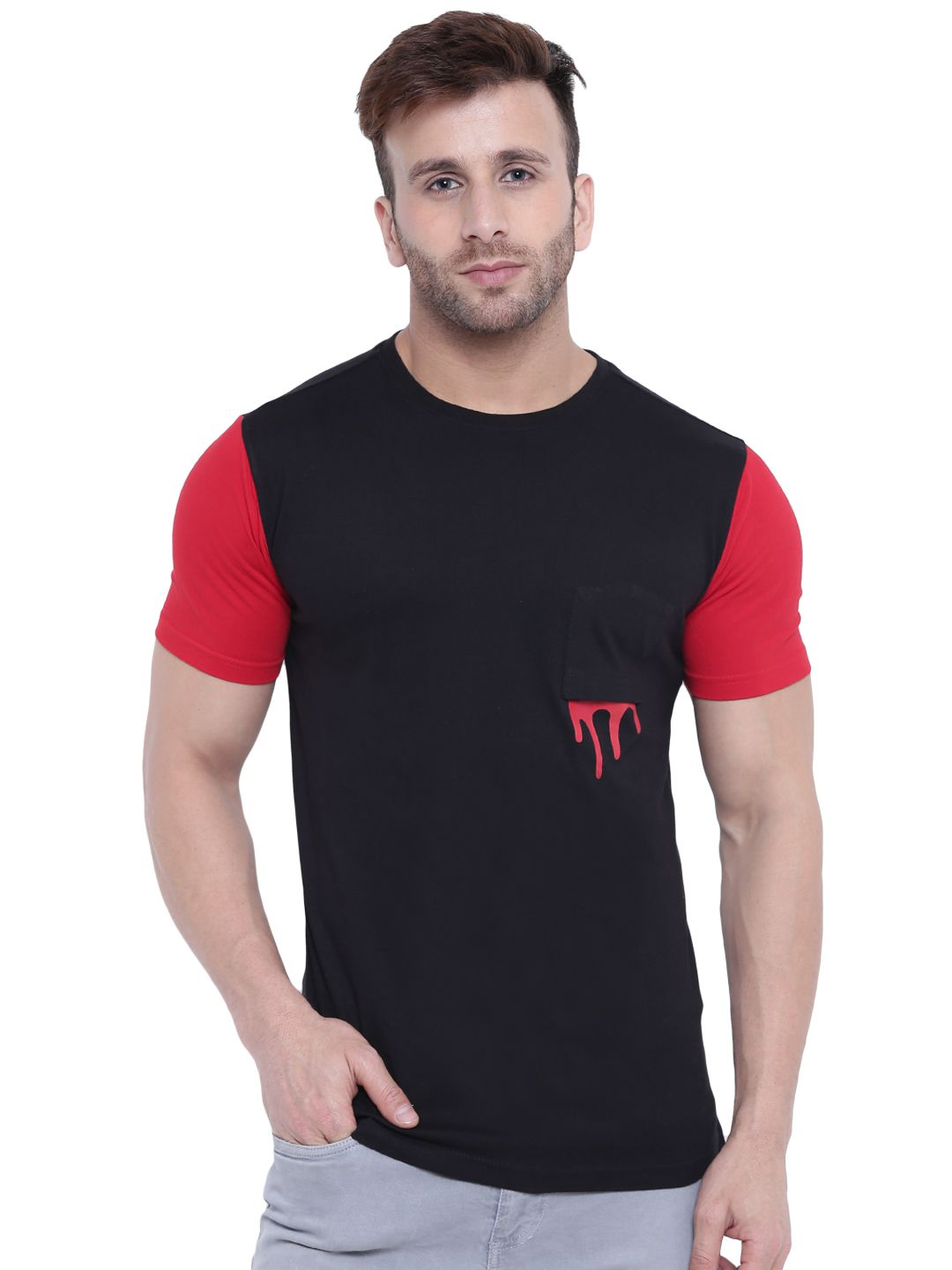 Gritstones Multi Round T-Shirt Pack of 1