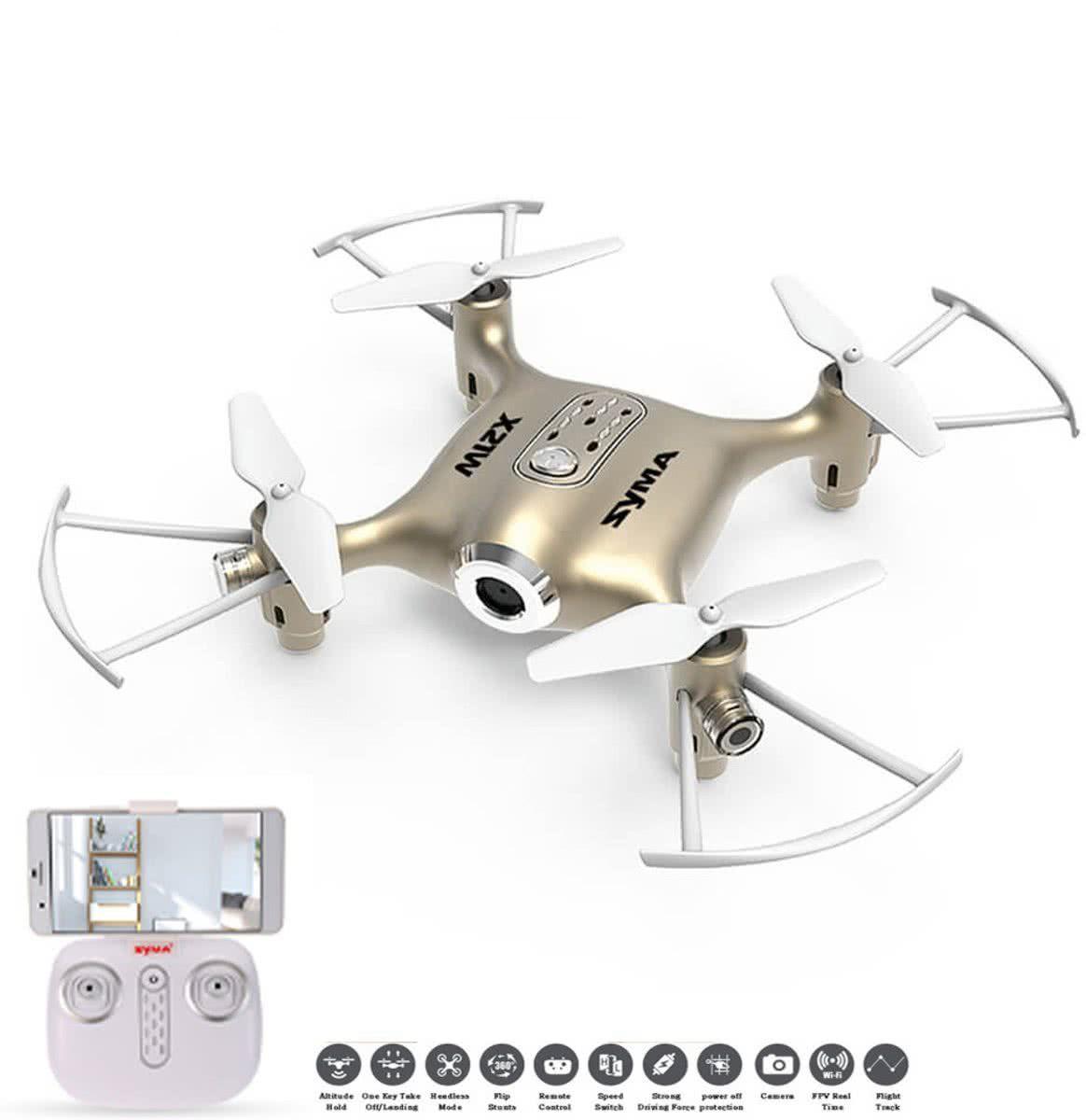 148d3df69e3 Toyhouse Syma X21W Wifi FPV Mini Drone With Camera Live Video LED Nano  Pocket RC Quadcopter With GYRO App Control, Golden - Buy Toyhouse Syma X21W  Wifi FPV ...