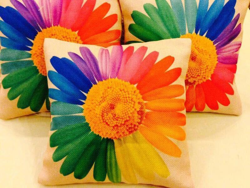 Elite Dekor Set of 5 Jute Cushion Covers 40X40 cm (16X16)
