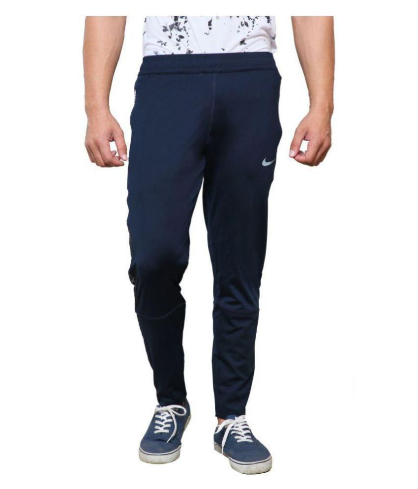 NIKE BLUE POLYESTER TRACKPANT