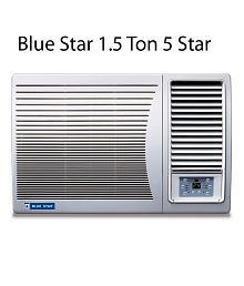 Blue Star 1.5 Ton 5 Star 5W18LC / 5W18GA / 5W18LA Window Air Conditioner White(2018 BEE Rating) Free Standard Installation