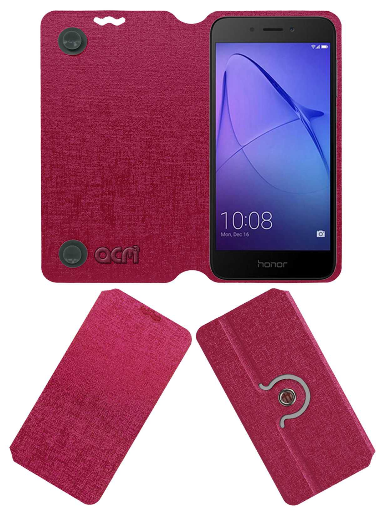 los angeles 0a52e f9c7d HONOR HOLLY 4 PLUS Flip Cover by ACM - Pink