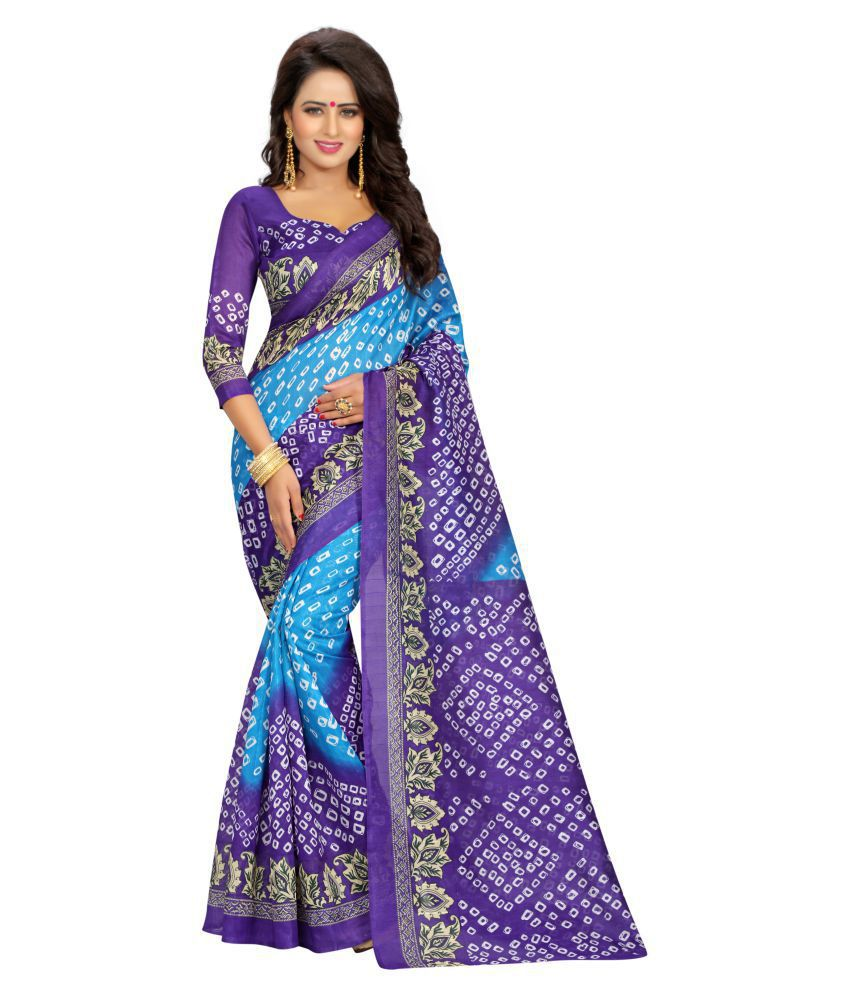 Lake Prints Multicoloured Polycotton Saree