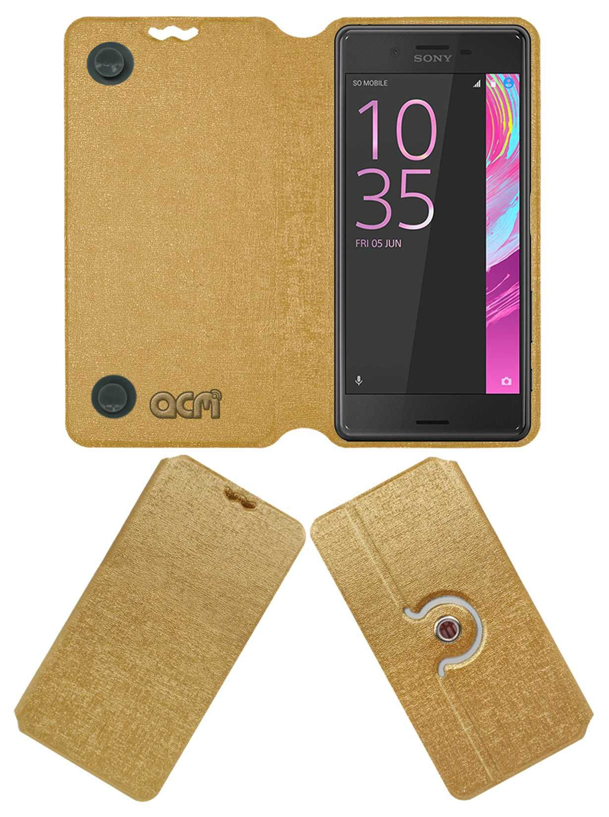 Sony Xperia X Flip Cover by ACM - Golden