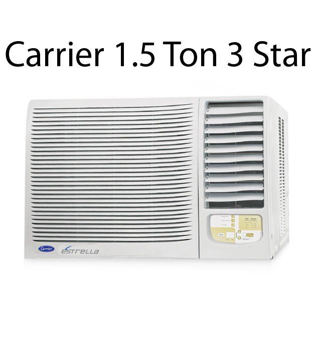 Carrier 1.5 Ton 3 Star ESTRELLA PLUS Window Air Conditioner 2014