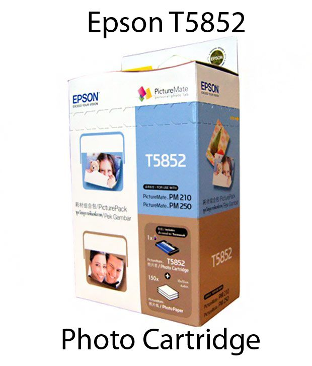 Epson T5852 Photo Cartridge With Paper Set for Picturemate series printers