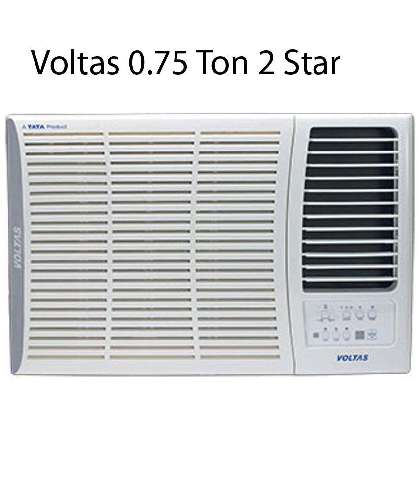 Voltas 0.75 Ton 2 Star 102 DYA/102 LYE/102 EY Window Air Conditioner White(2016-17 BEE Rating)