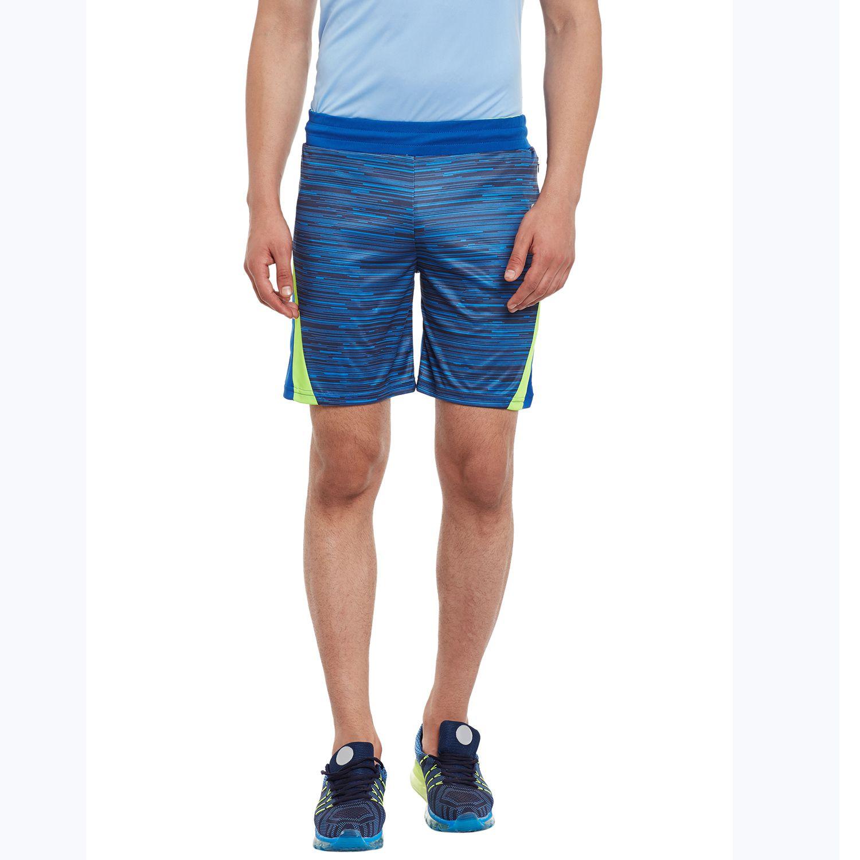Alcis Mens Blue Solid Shorts