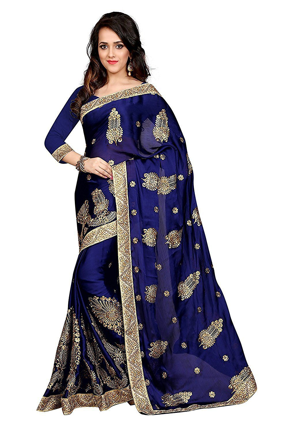 62960dadfff4d6 Geet Fashion Solution Blue Georgette Saree - Buy Geet Fashion Solution Blue  Georgette Saree Online at Low Price - Snapdeal.com