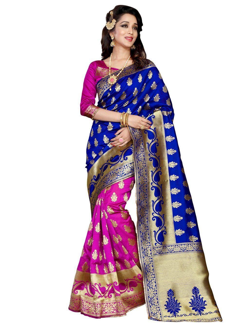 Fab Ikshvaku Multicoloured Banarasi Silk Saree