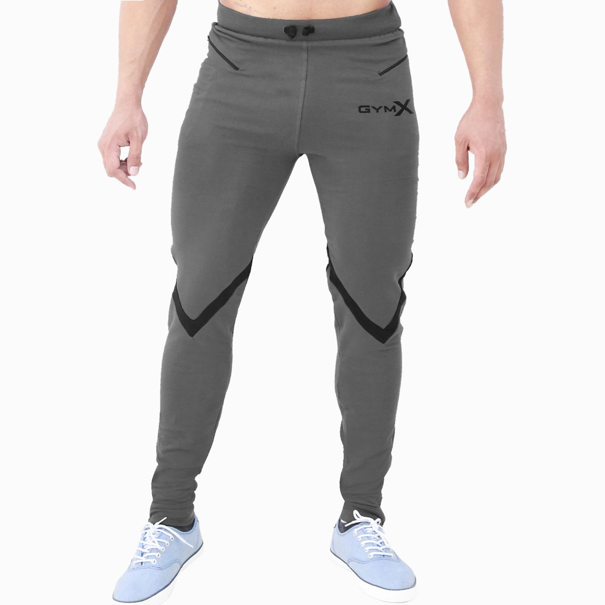 GymX Mens Valour Concrete Grey Sweatpants (Flex Fit)