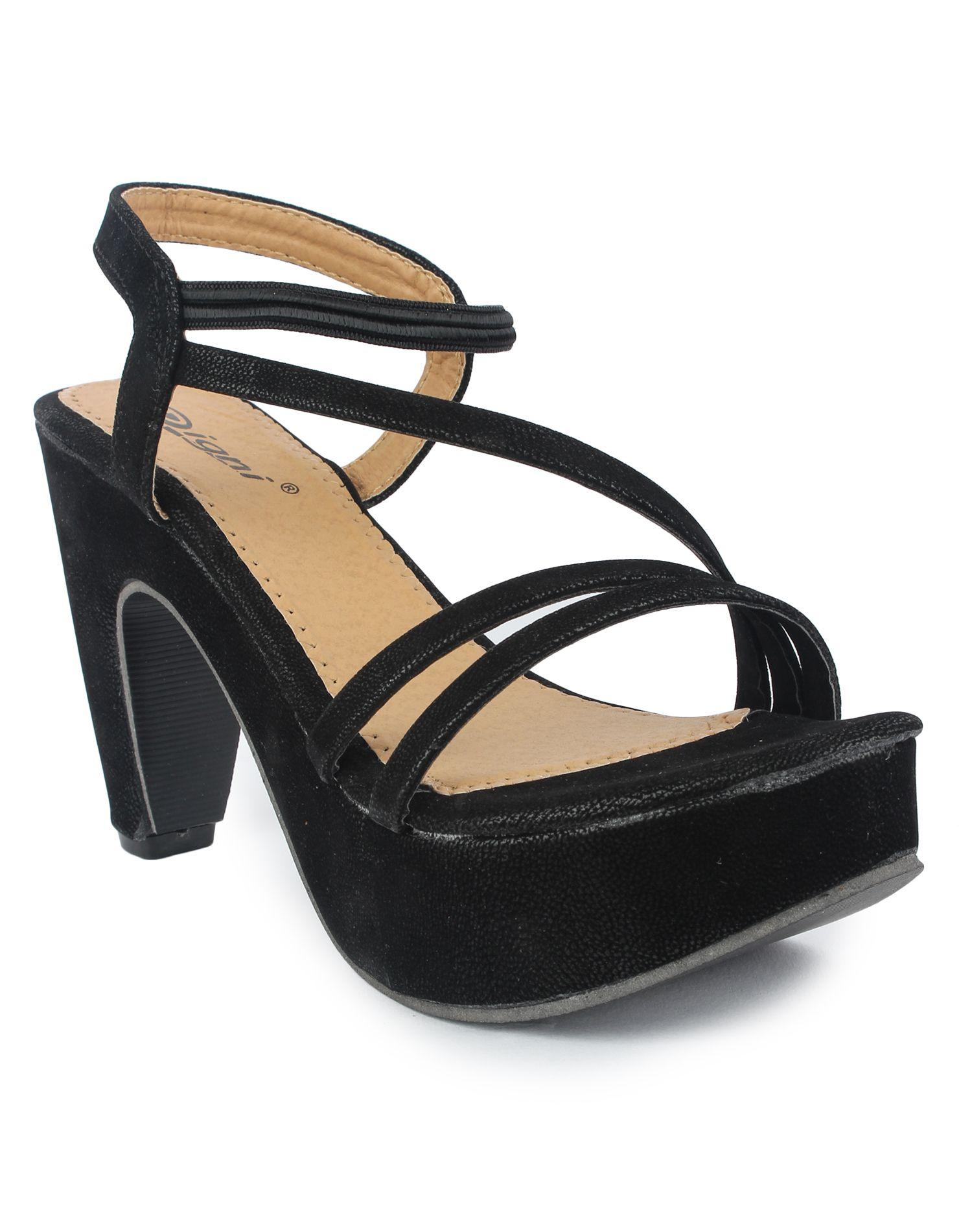 DIGNI Black Block Heels