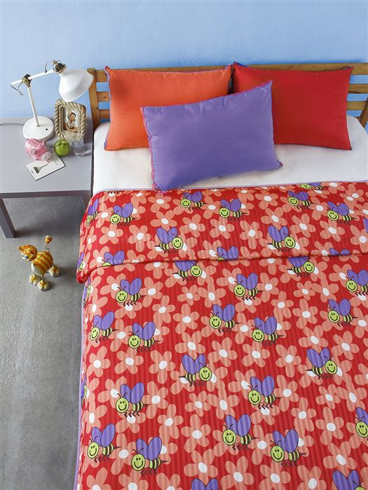 Bliss Single Poly Flannel Multi Printed Dohar
