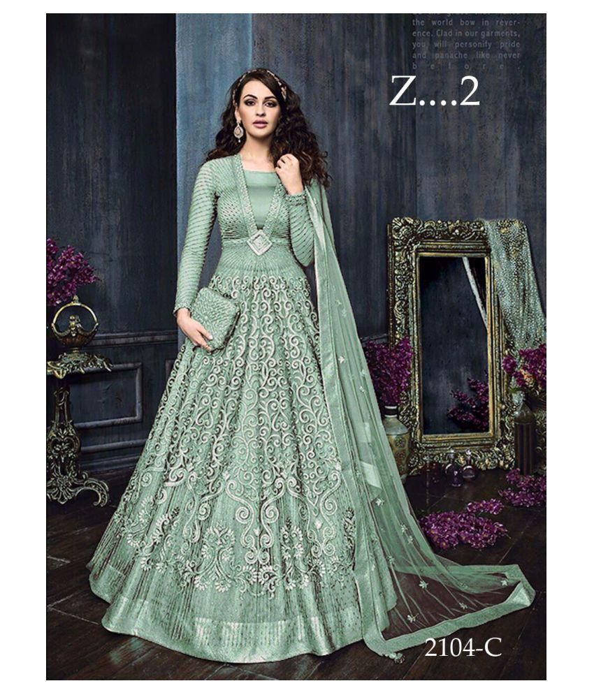 Spark Creation Green Net Gown