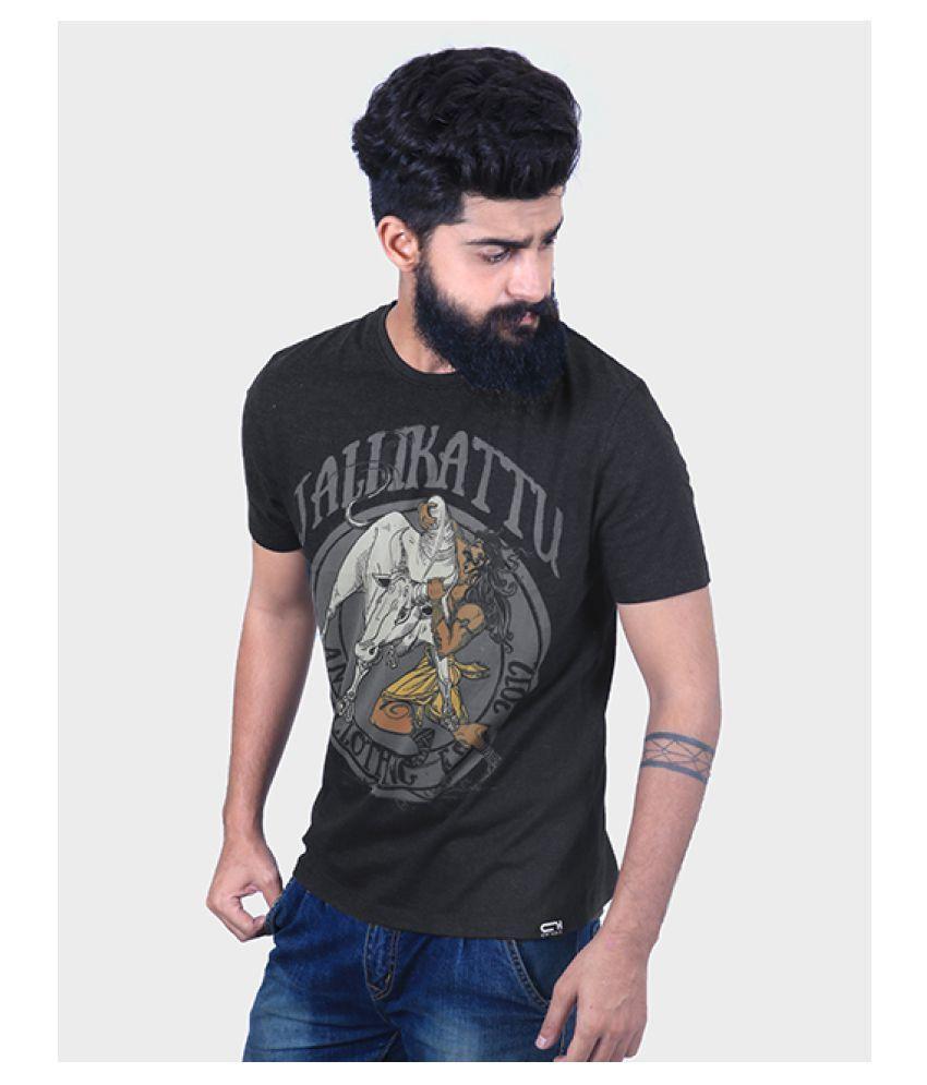 ANGI Black Round T-Shirt Pack of 1