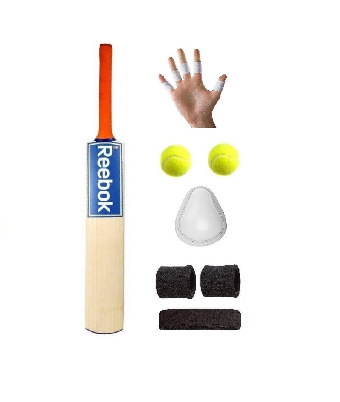 Reebok Blue Sticker Popular Willow Cricket Bat For Tennis Ball