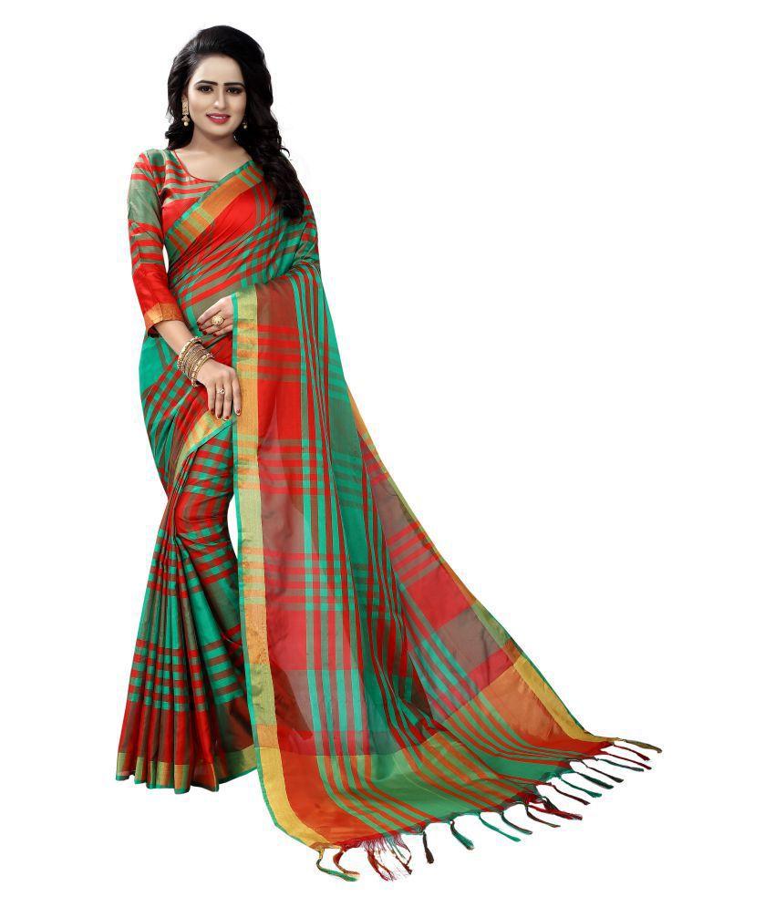 AS fashion Multicoloured Cotton Silk Saree