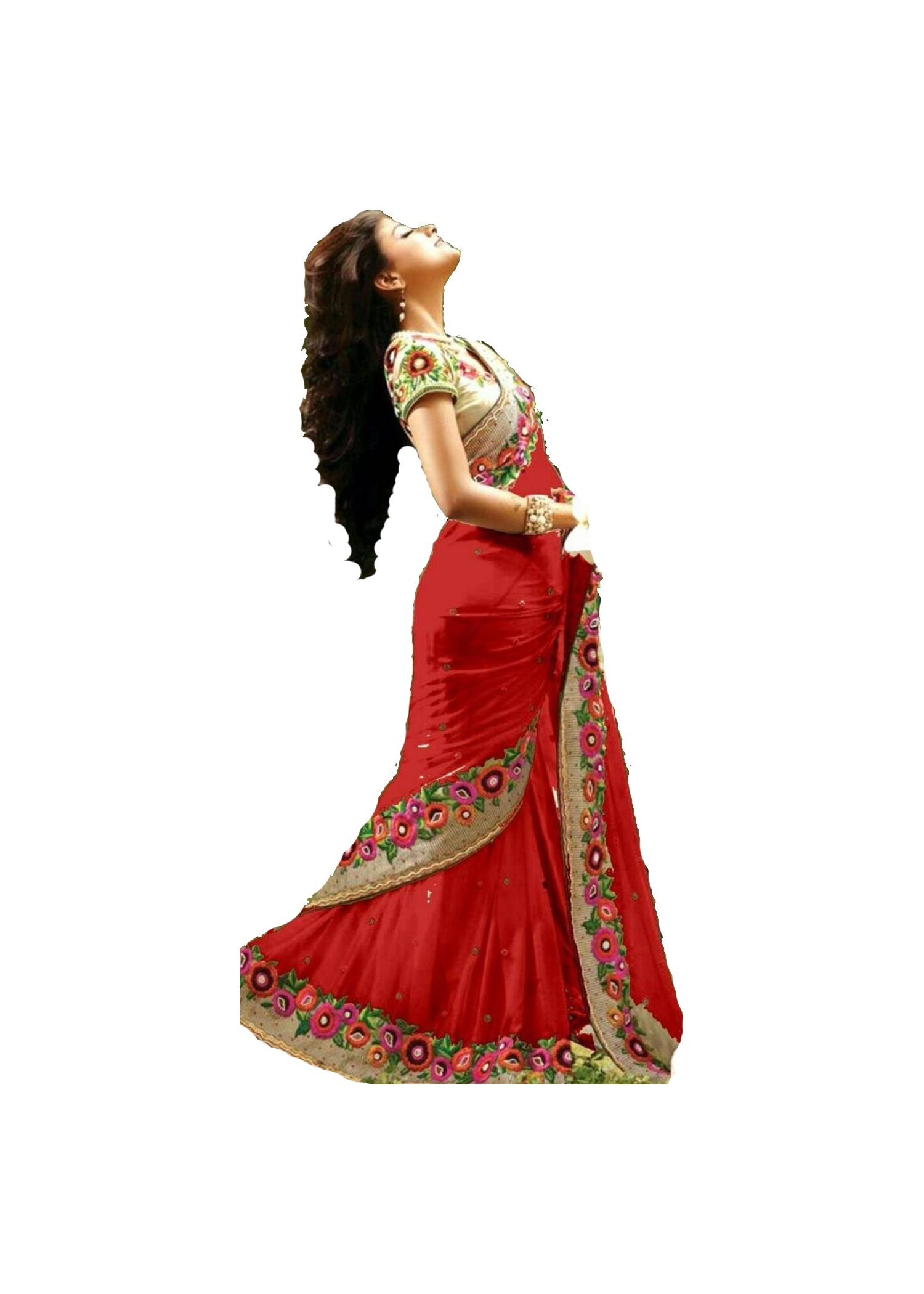 Laxmipati Fashion Red Georgette Saree