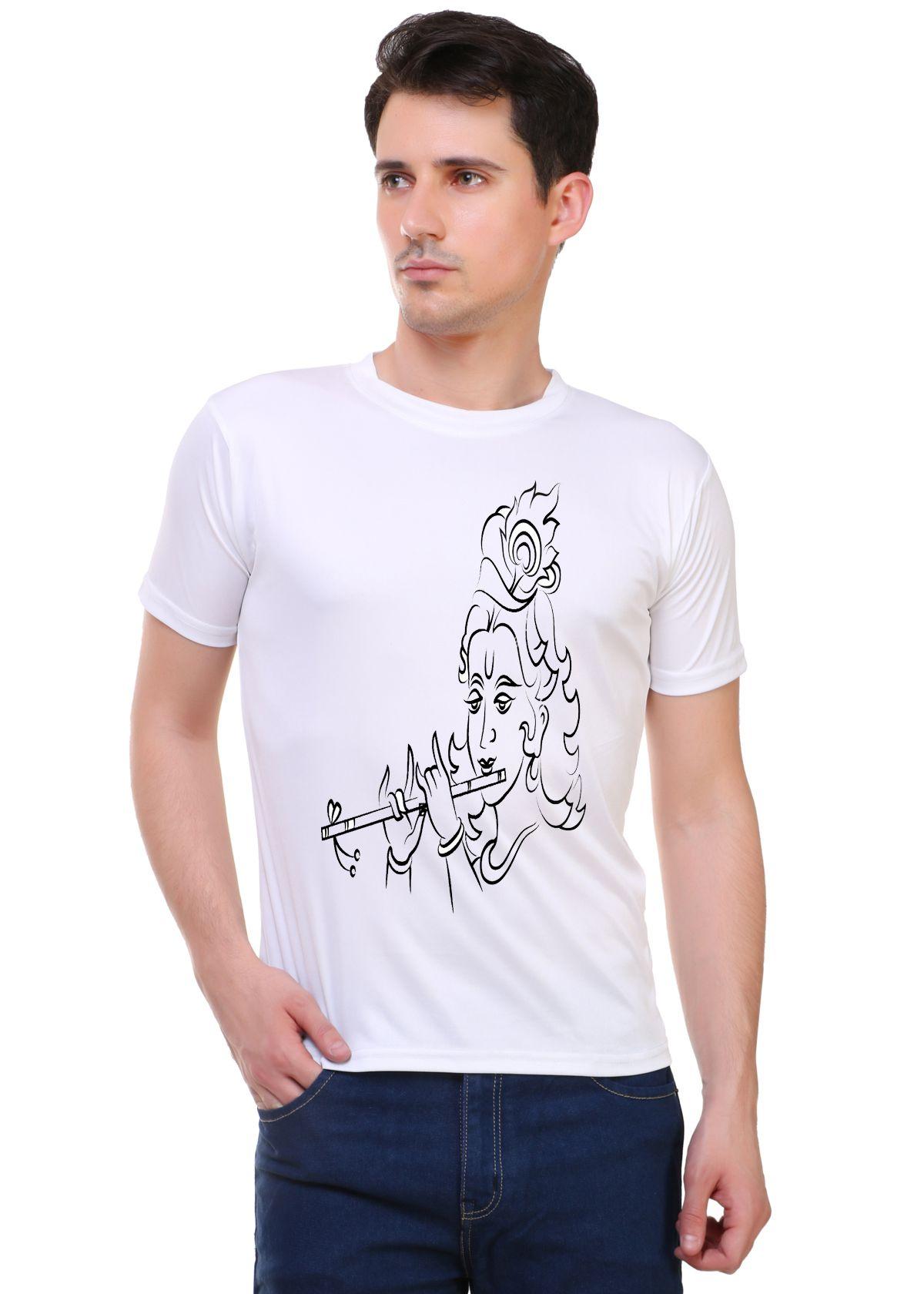 M R MARC ROSE White Round T-Shirt
