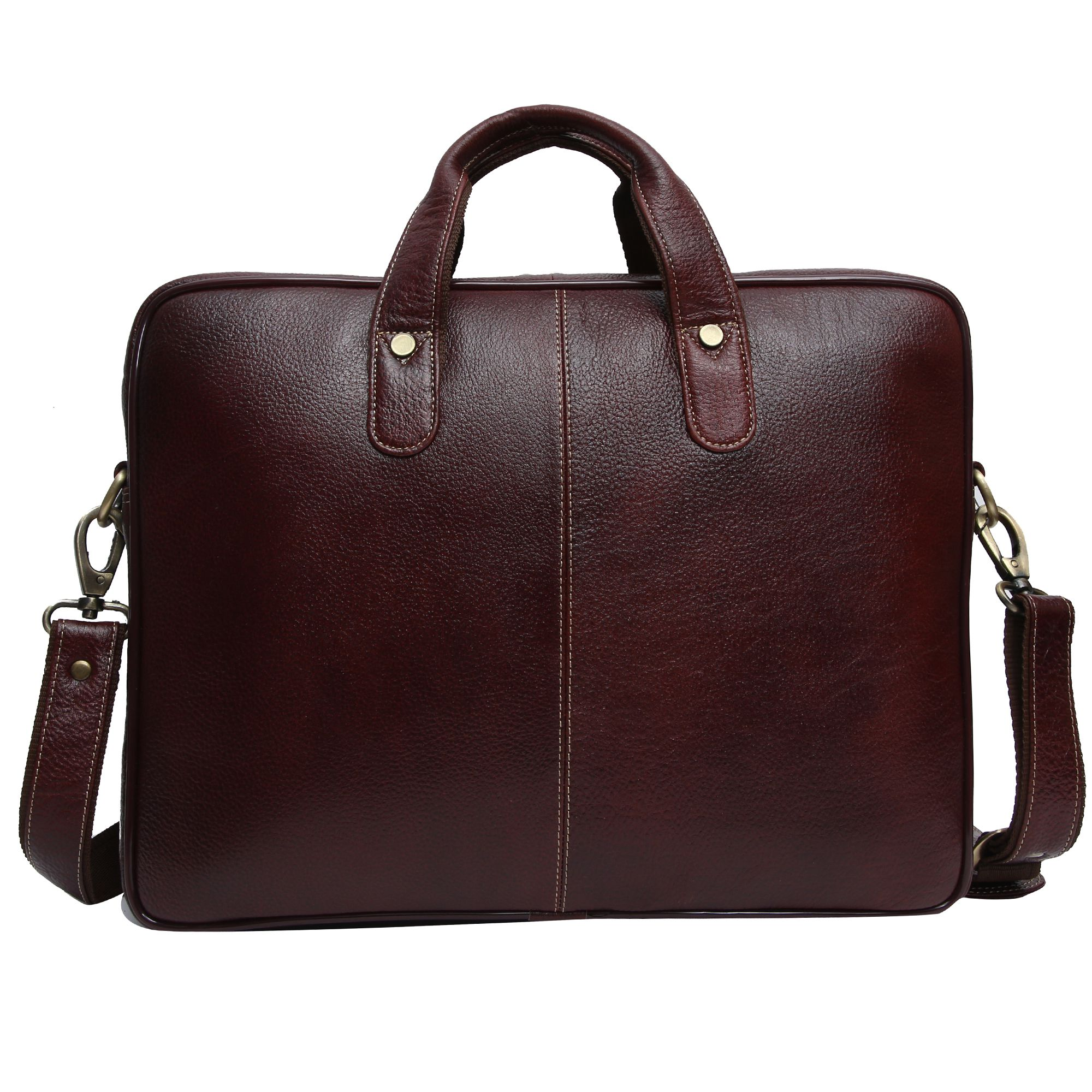... HAMMONDS FLYCATCHER Latest Design Brown Leather Office Bag-14 Inch Side  Bag ... f8692a60c1c9