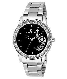 Decode Ladies Crystal Studded LR-2120 Chain Black Diamond Collection Watch for Women/Girls