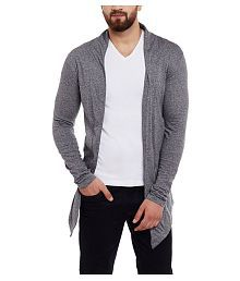 Finger's Grey Shawl Neck Sweater