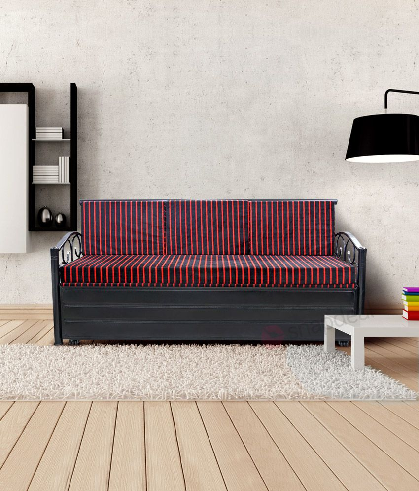 metal single size sofa cum bed with hydraulic storage by royal rh snapdeal com