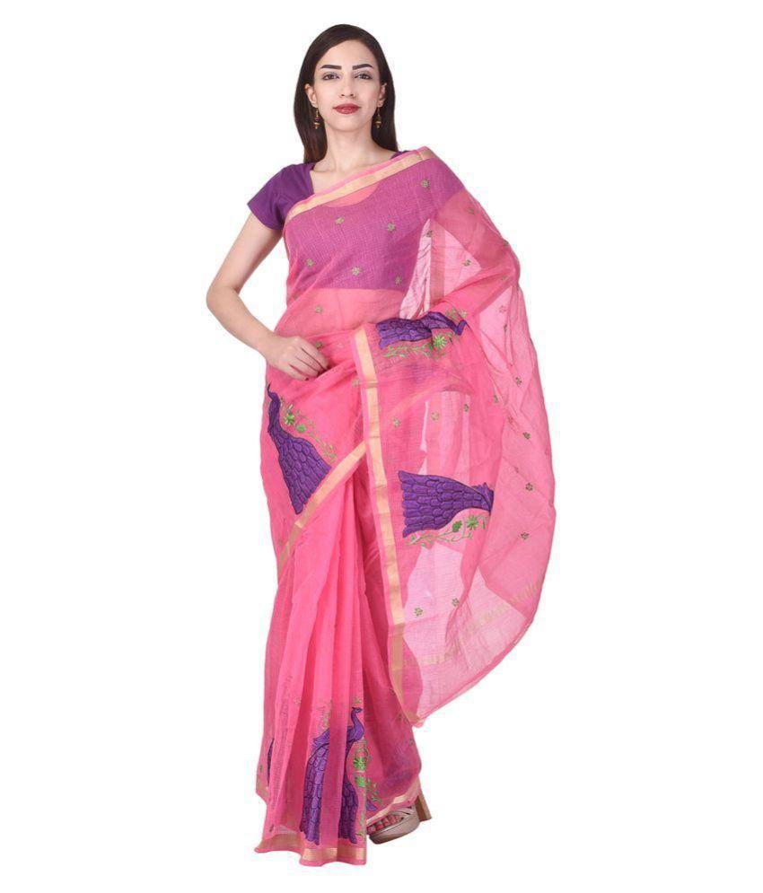 BINORI Pink Super Net Saree