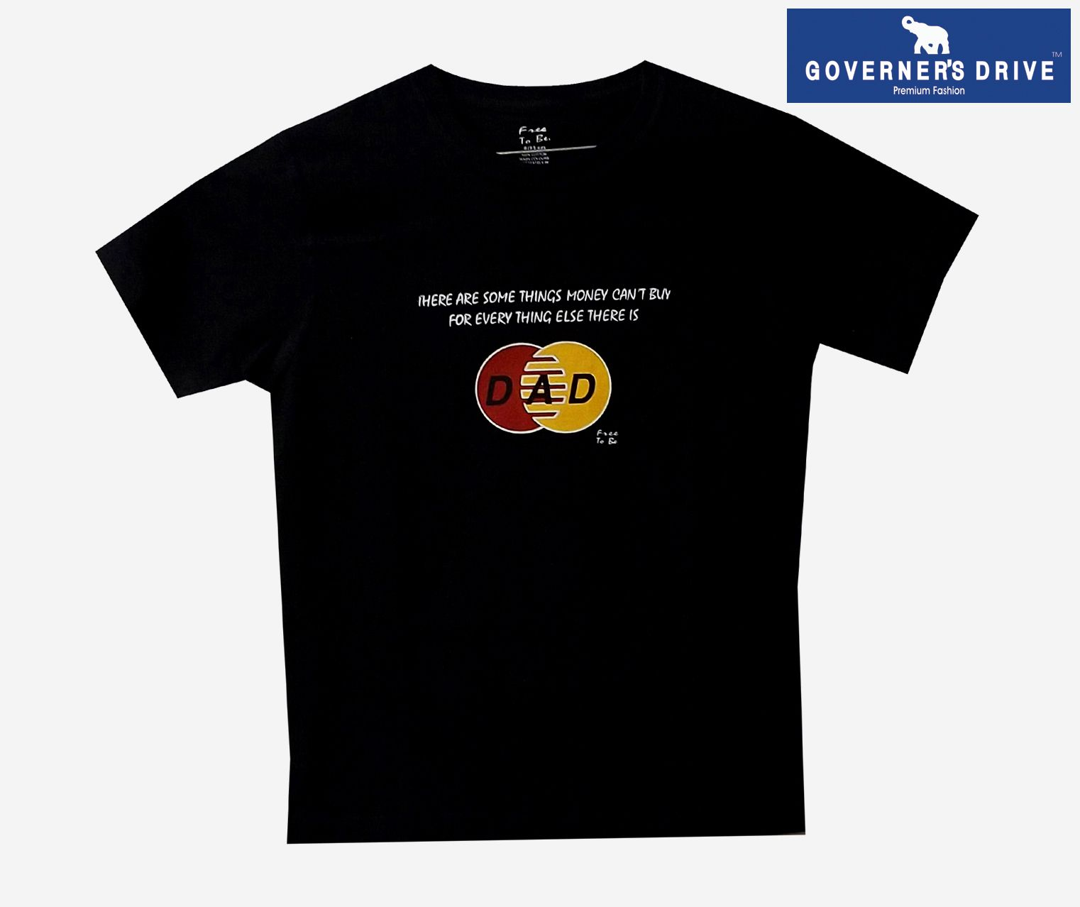 GOVERNER'S DRIVE Black Round T-Shirt Pack of 1