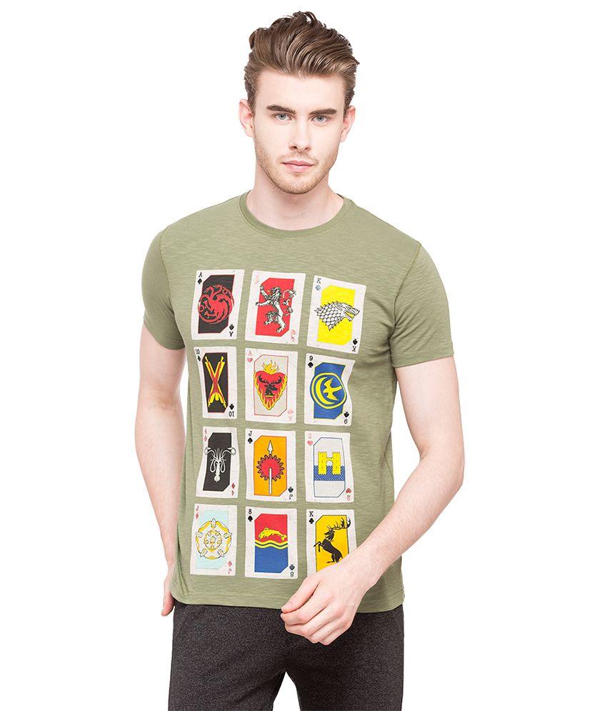 Status Quo Green Round T-Shirt