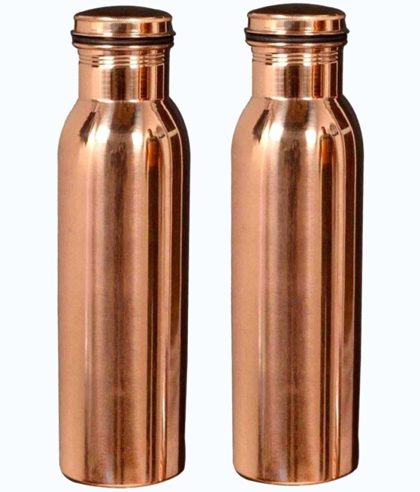 VASTUGHAR Brown 1000 ml Water Bottle Set of 2