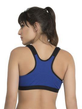 b7ad7eab17 College Girl Cotton Sports Bra - Blue - Buy College Girl Cotton ...