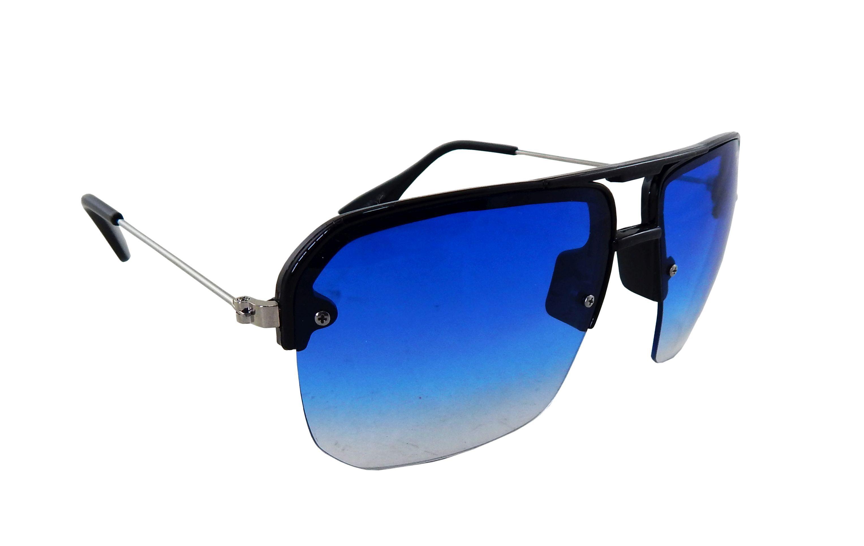 Els Blue Rectangle Sunglasses ( SEAZ-EH187-BLK-BLU-S )