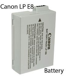 Canon LP-E8 Lithium-Ion Battery Pack (4515B002BA) for Canon EOS 550D, EOS 600D, EOS 650D, EOS 700D