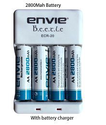 Envie ECR20 2800 4PL Camera Battery Charger