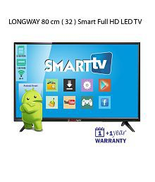LONGWAY S7005 80 cm (32) Smart Full HD (FHD) LED Television With 1+1 Year Extended Warranty