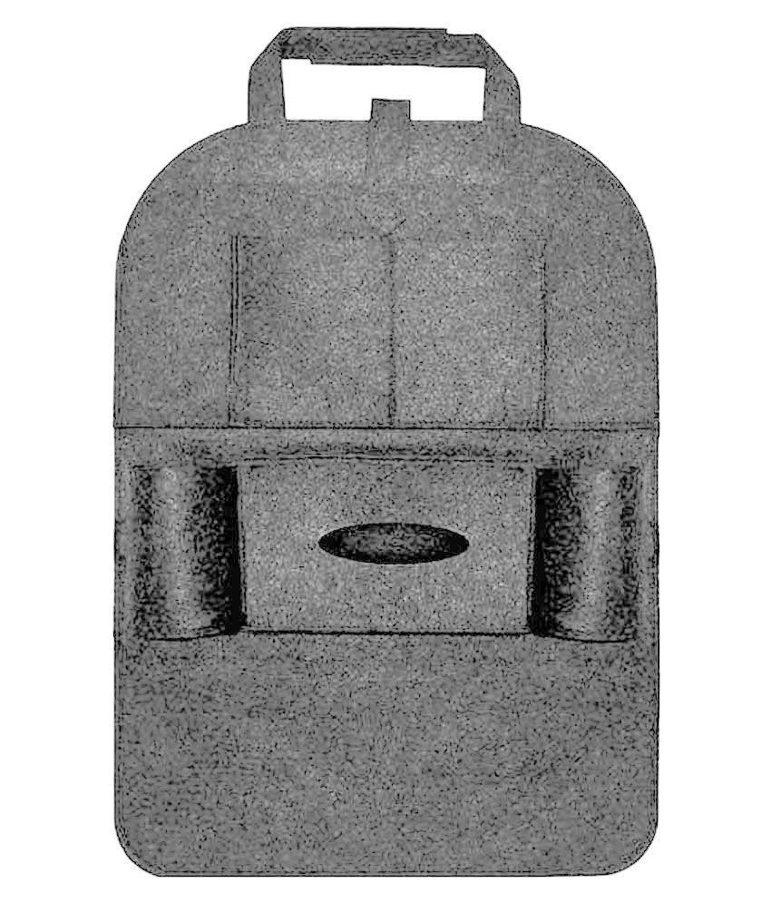 AutoRight Multi Pocket Organizer for Headrest Grey