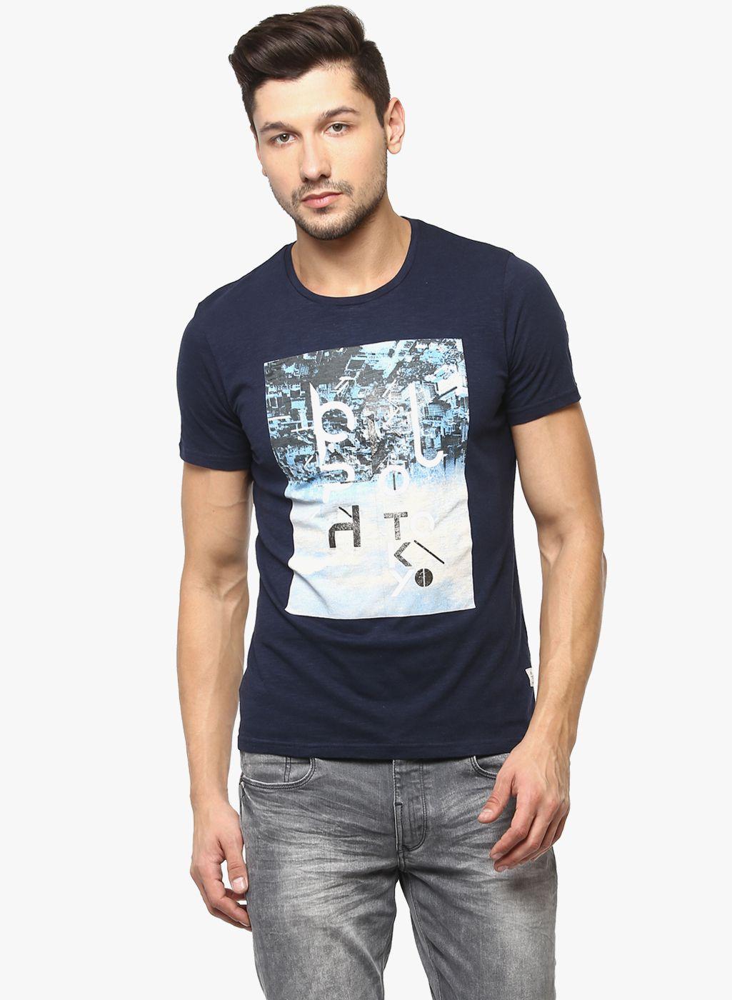 Crimsoune Club Navy Round T-Shirt