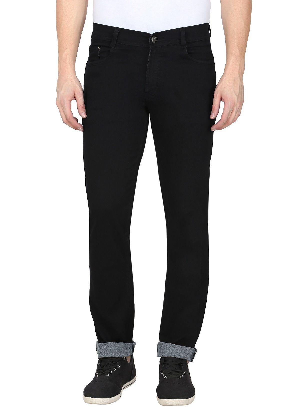 gradely Black Regular Fit Jeans