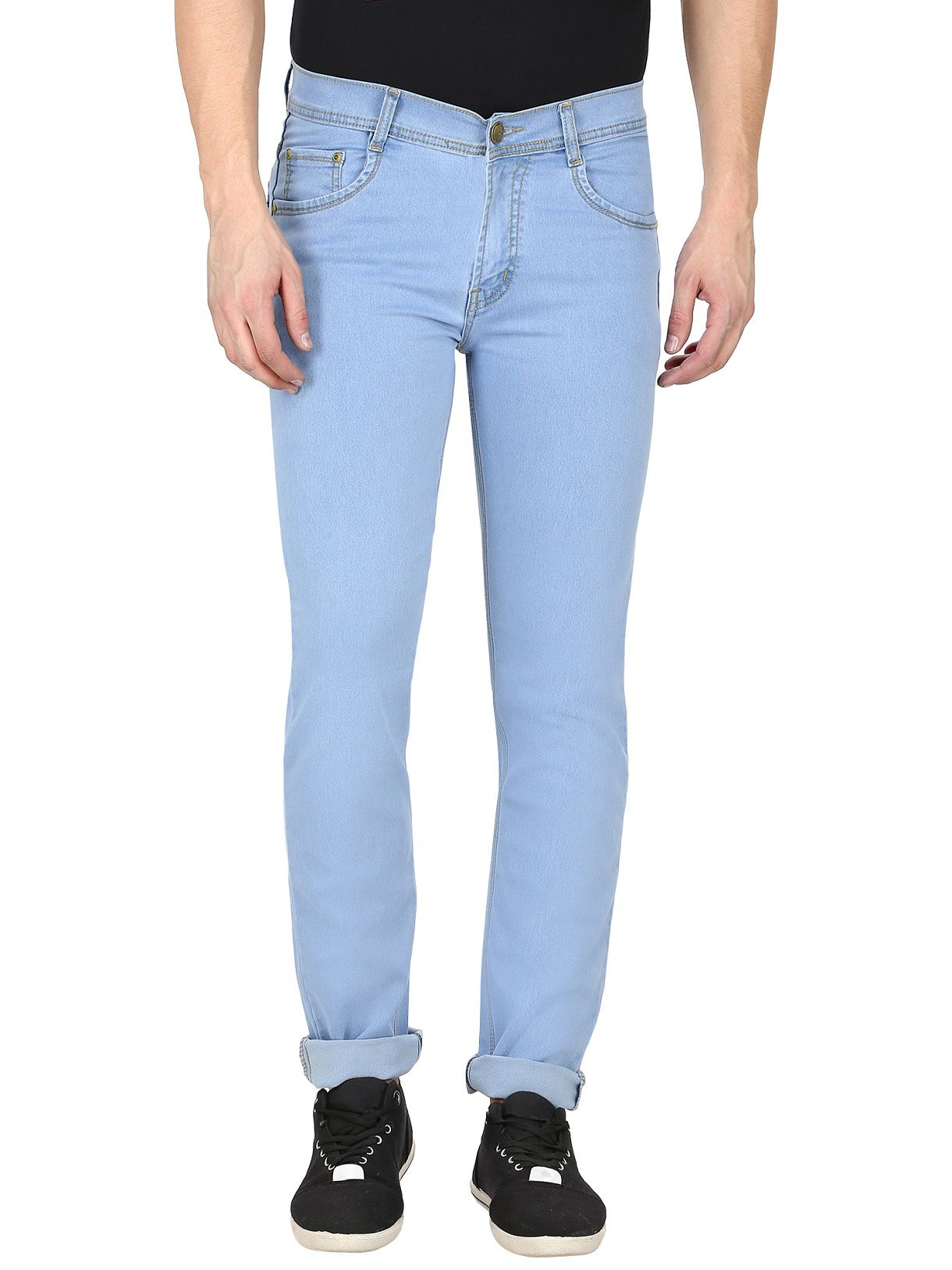 gradely Light Blue Regular Fit Jeans