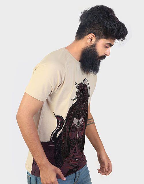 ANGI Brown Round T-Shirt Pack of 1