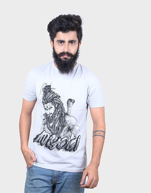ANGI Grey Round T-Shirt Pack of 1