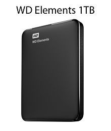 WD Elements 1TB External Hard Drive (Black)