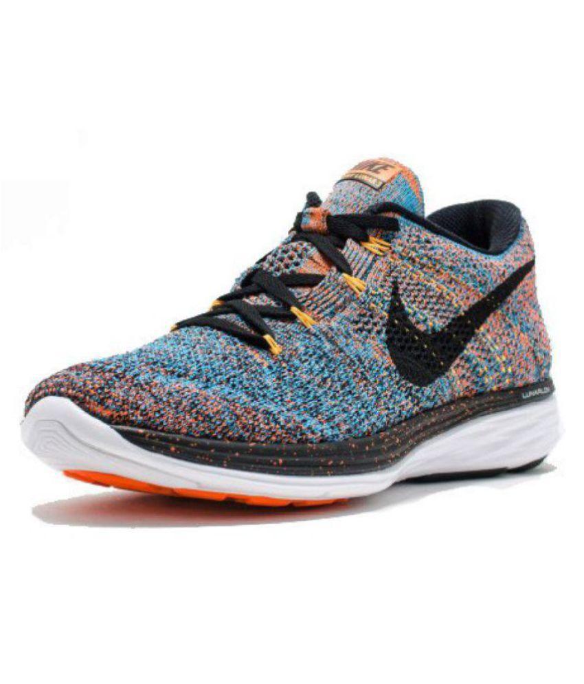 91442eaf4231e Nike Flyknit Lunar 3 Multi Color Running Shoes - Buy Nike Flyknit ...