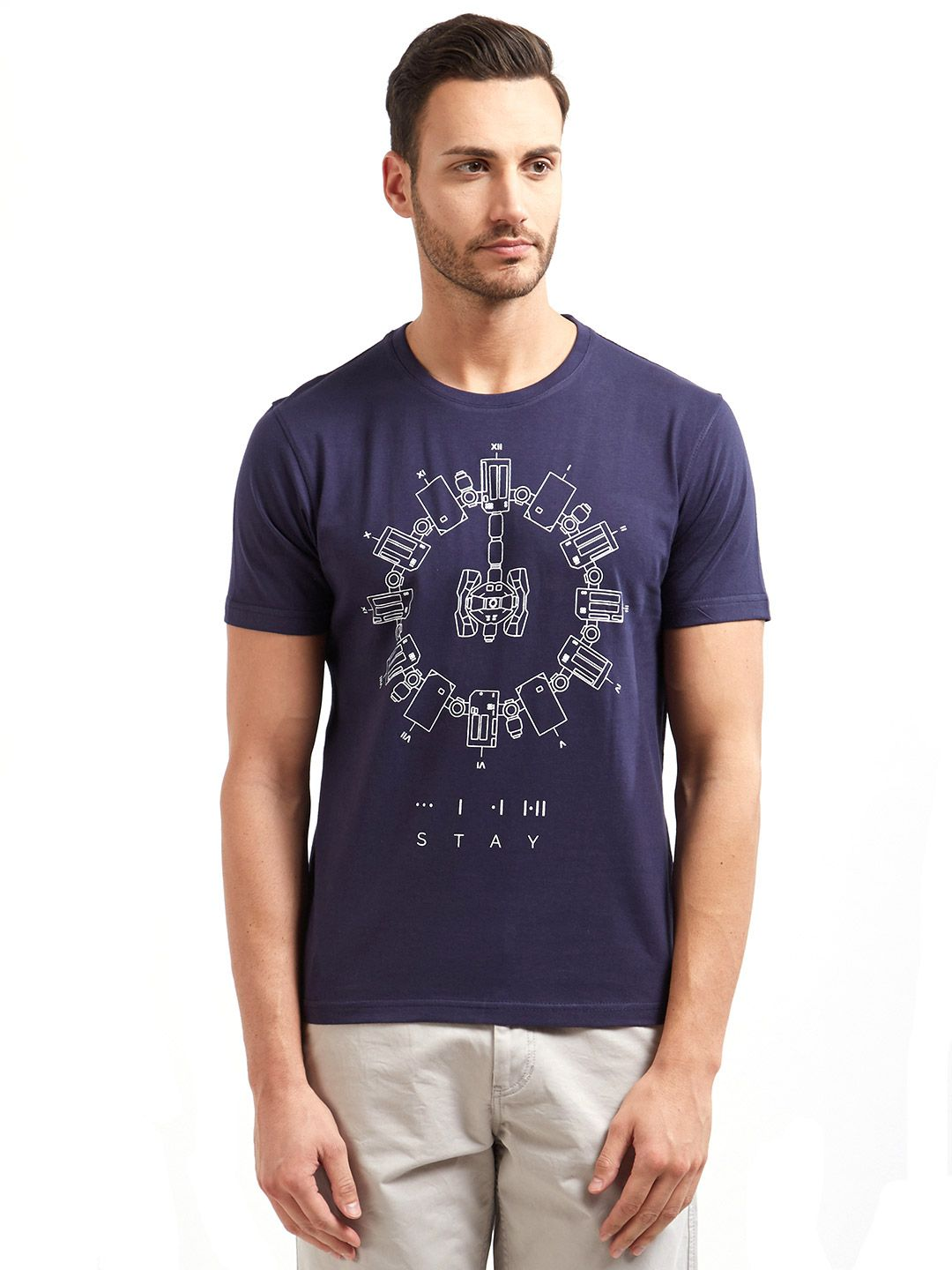 Redwolf Navy Round T-Shirt